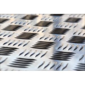 Tôle aluminium larmé à damier sur mesure, épaisseur 3/ 4,5mm