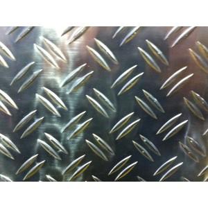 Tôle aluminium larmé à damier sur mesure, épaisseur 2/ 3,5mm